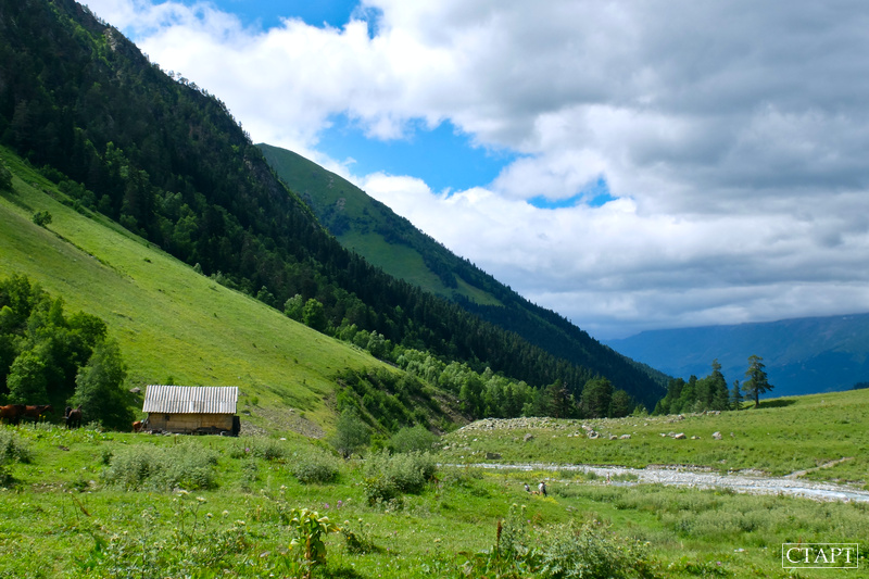 Долина реки Софии, Архыз. Поход на Софийские озера