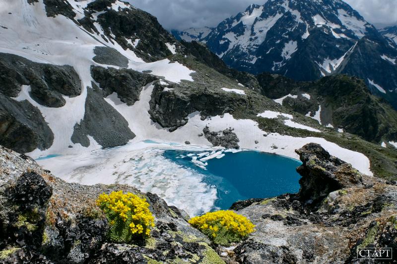 Озеро Кратерное в Архызе