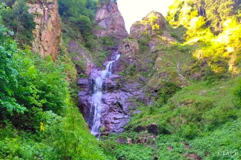 Казачий водопад в Архызе фото эксекурсии