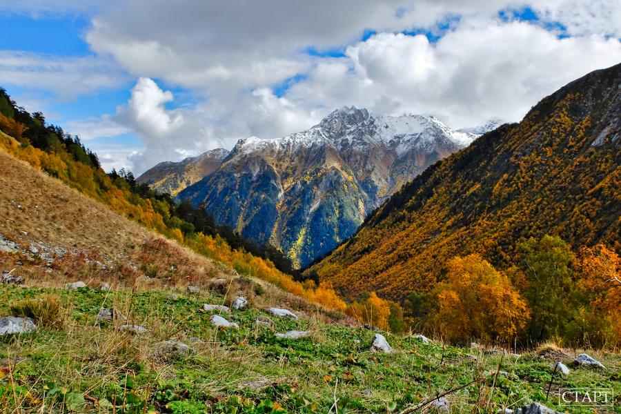 Золотая Осень на озёрах Архыза поход с палатками