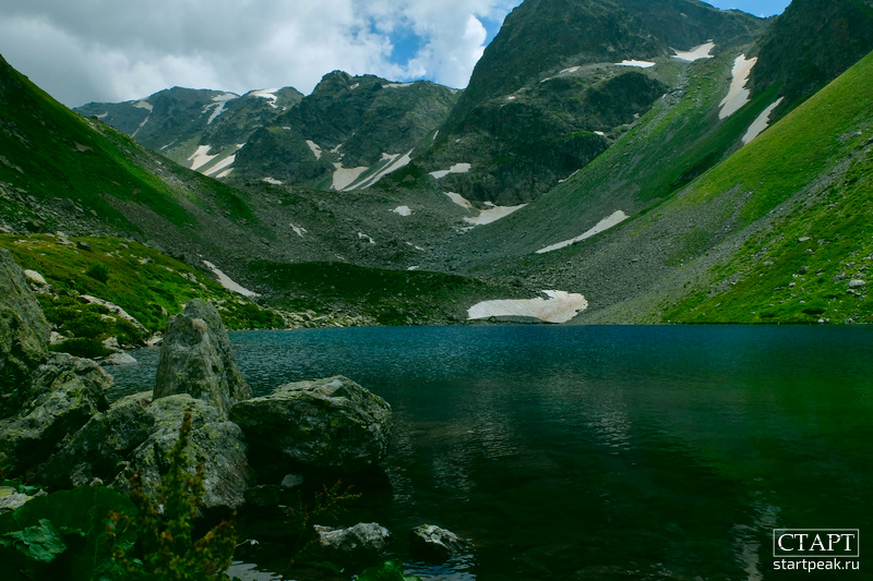 Озеро Семицветное в Архызе