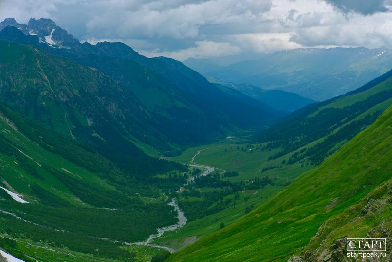 Долина реки Софии. Вид с перевала Софийское седло