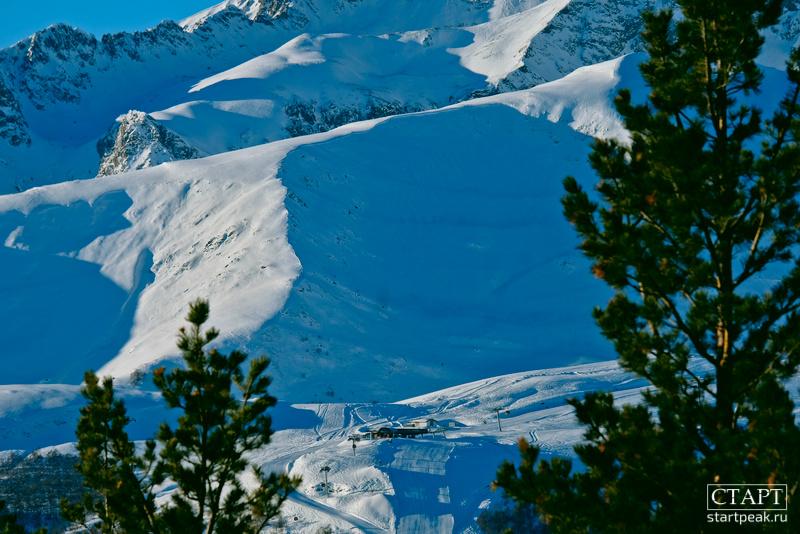 Вид на северный склон в Архызе