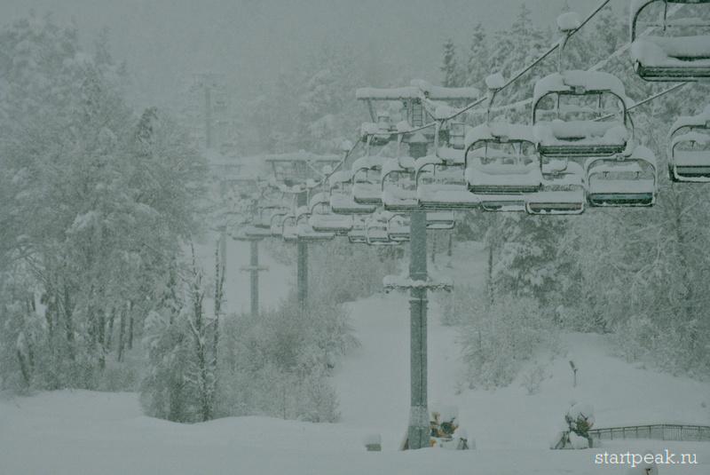 Курорт Архыз под снегом