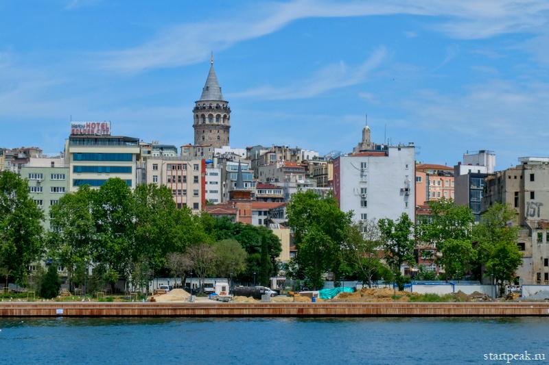 Галатская башня в Стамбуле, вид с воды