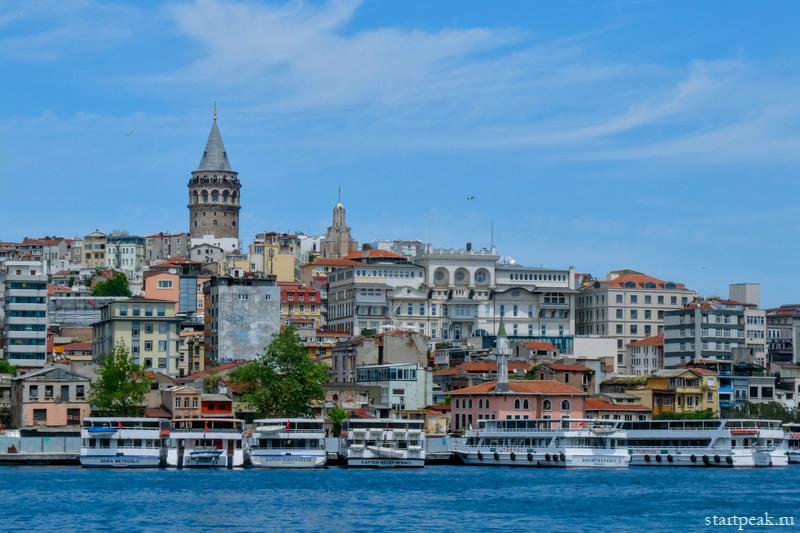 Золотой Рог в Стамбуле и Галатская башня