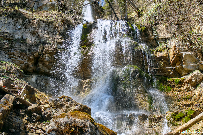 Лунный водопад в Мезмае фото и маршрут