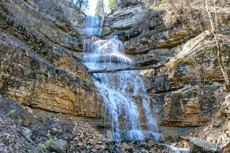 Алебастровые водопады в Мезмае как пройти