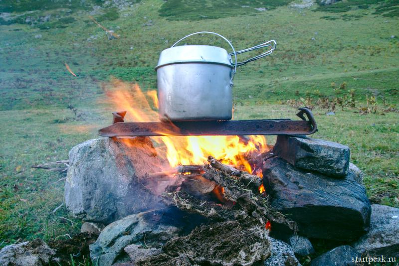 Приготовление пищи в походе