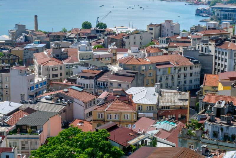 Вид с Галатской башни на Стамбул и Босфор