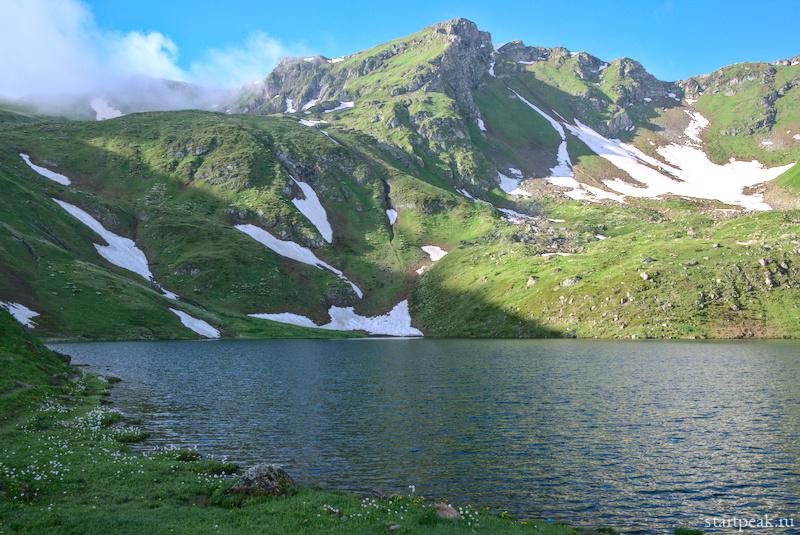 Горное озеро в Архызе Рыбное
