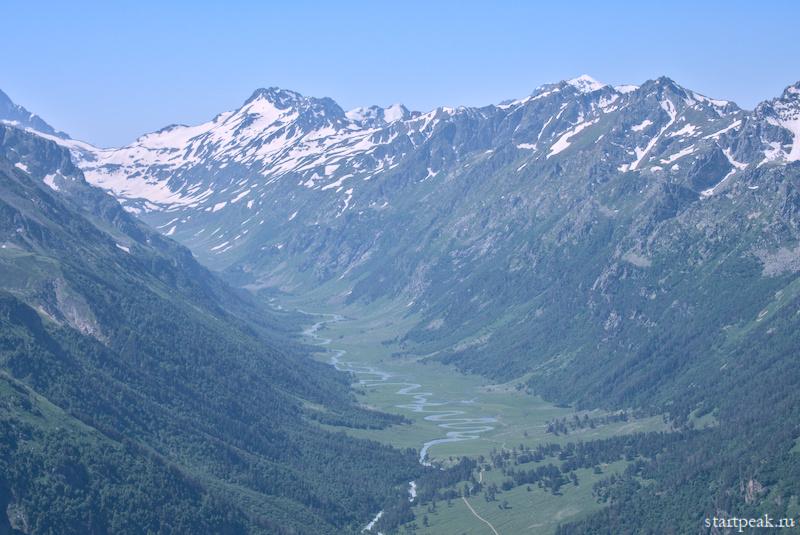 Долина реки Маруха поход в Архыз