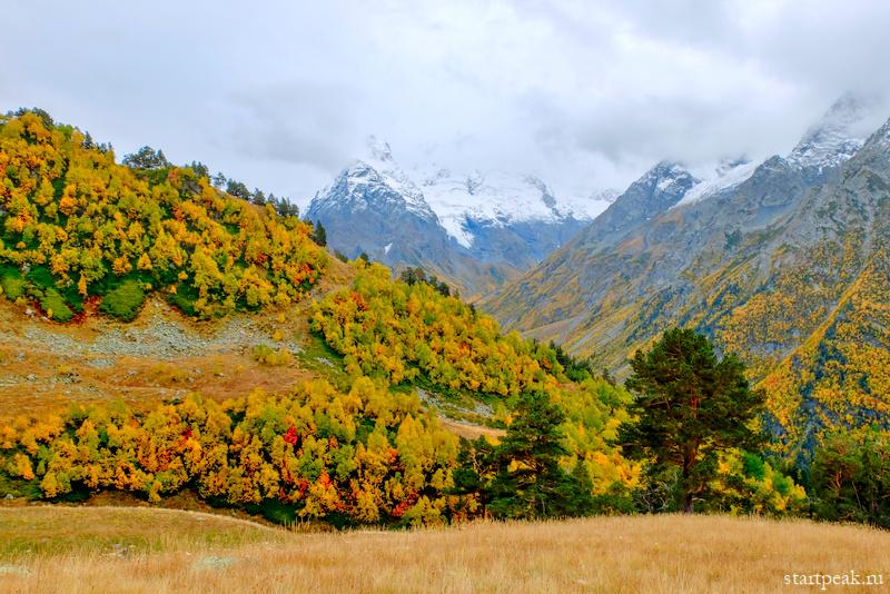 Ущелье Псыш в Архызе золотая осень